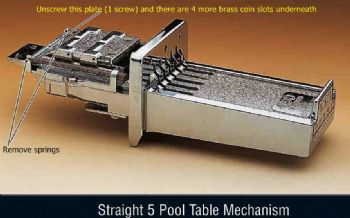 Universal Pool Table football any table coin mechanism replaces 5 or 6 way mech